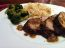 Roasted Pork Loin with North Carolina BBQ Sauce and Miso Broccoli